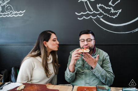 Couple Engagement Photos | Nairoma Pizza Bar - His 1st Love