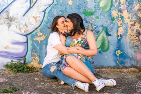 Photographe de couples fiancés   Jaraguá, Maceió, amour coloré d'Alagoas