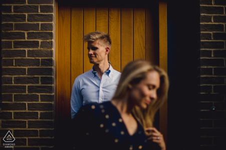 Engaged Couple Session | London Creative pre-wedding shoot