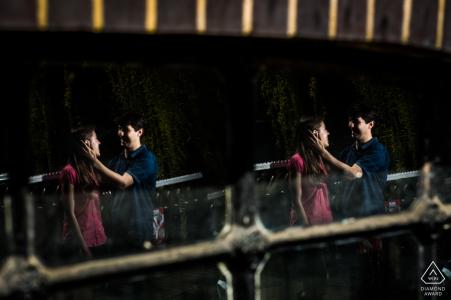 Engaged Couple Session | A London, United Kingdom double reflection