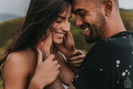 Belo Horizonte, Brazil loving couple portrait embraced