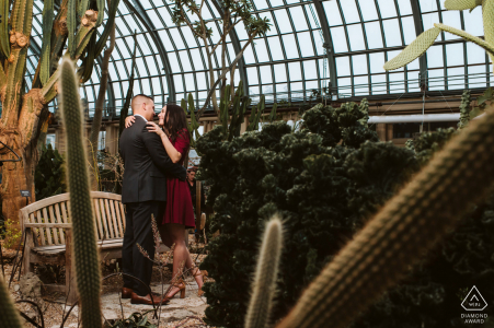Garfield Park Conservatory Desert in the city engagement photography