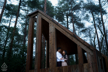 England Haldon Forest Engagement shoot with a couple in the woods