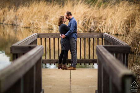 Redwood City engaged couple portrait session with Love in the fall color