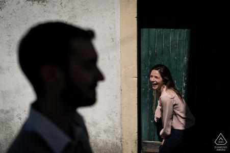 Portrait de couple Ile d'Yeu, France pour séance de fiançailles