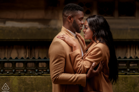 England engagement session with a couple at Manchester City Centre