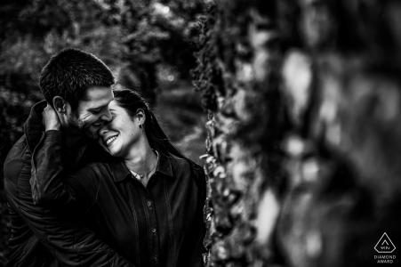Portraits de couple noir et blanc Auvergne-Rhône-Alpes à Lyon