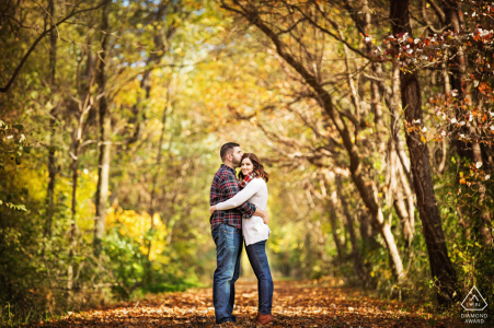Frenchtown, New Jersey fall engagement session