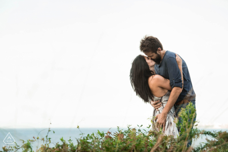 Saint Jean de Luz France Love & passion during a pre-wedding photo session by the sea