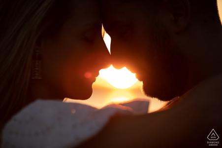 Lake of Bolsena Italy sunset portrait for an engaged couple