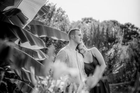 Giardini Sigurtà, Valeggio sul Mincio, Italy Pre wedding session at the park for black and white portraits