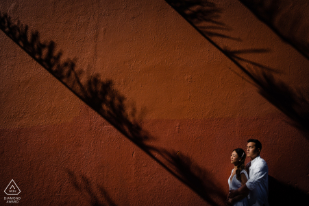 Afternoon engagement photography at Fremantle just before sunset