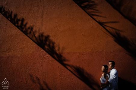 Photographie de fiançailles l'après-midi à Fremantle juste avant le coucher du soleil