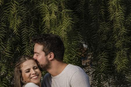Aterro do Flamengo, Rio de Janeiro e-photo of couple holding one another