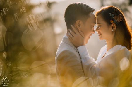DaLat, sesión de fotos de compromiso de Vietnam a la luz del sol de la tarde con un toque tierno y amoroso