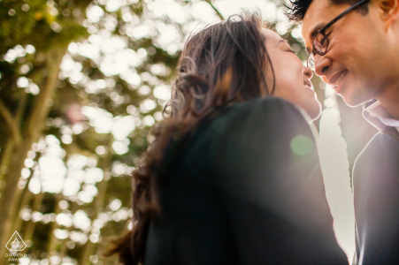 San Franciscopre-wedding photo of an engaged couple so in love