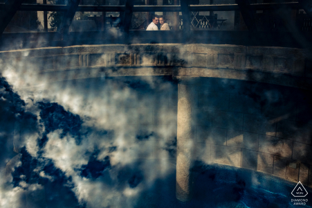 Bulgaria engagement photoshoot & pre-wedding session from Wine & Spa Complex Starosel, Bulgaria using a Creative reflection for an artistic portrait