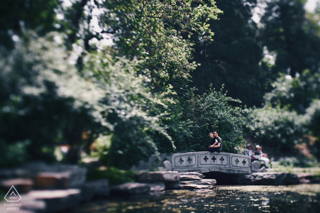 Beijing pre-wedding photo session with an engaged couple at Peking university, China