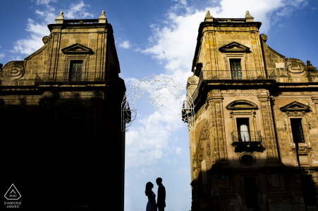 IT pre wedding photography at at the twin gates of Palermo