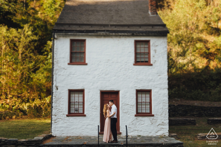 Virginia engagement photo shoot at Harpers Ferry - The Couple chose the beautiful old town to tell their story