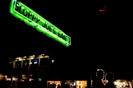 FL night engagement photoshoot & pre-wedding session at Sloppy Joe's Bar