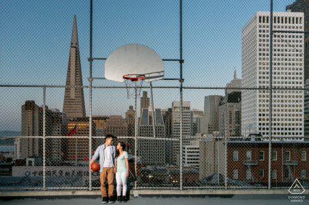 Chinatown, San Francisco CA couple Basketball Diary during a pre-wed portrait shoot