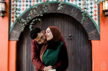 Istanbul, Turquie couple lors d'une séance photo portrait pré-mariage