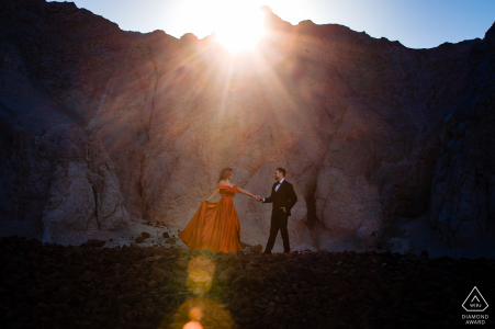 Big Bend National Park Adventure micro outdoor mountain photo session with sun flare
