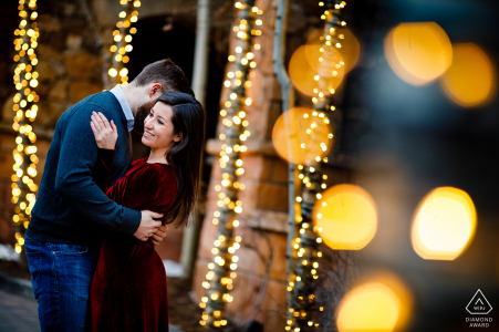 Winter engagement session in Vail, Colorado