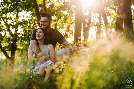 Quincy couple engagement pic session during the golden hour