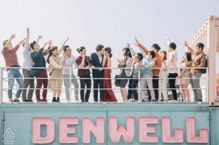 Sesión de fotos previa a la boda de Denwell con estilo artístico que muestra a todos ser testigos de su amor