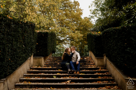 Holland Park, London Artful Engagement Picture created during a Winter walk through the Park