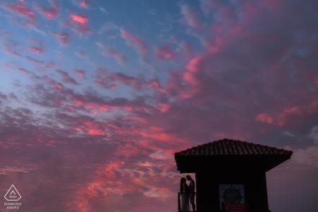 Prainha Fine Art Engagement Bild zeigt die besondere Morgendämmerung