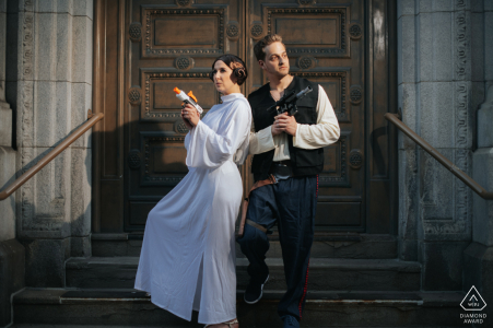 Cleveland portrait e-session of couple dressed in Stars Wars themed costumes, May the 4th be with you