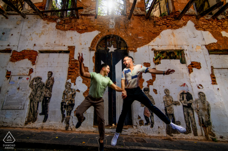 Old San Juan, PR on-location portrait e-shoot with some action in a very popular spot for photos