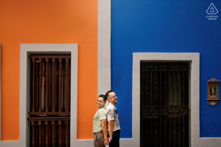 Séance électronique de portraits Old San Juan, Porto Rico avec un peu de contraste pour la composition