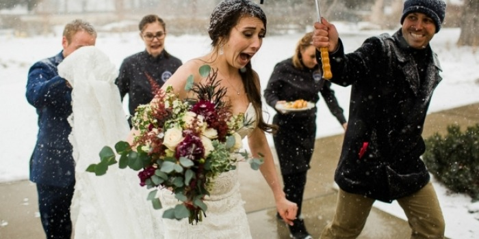 Winter Wedding | Bride in the Snow