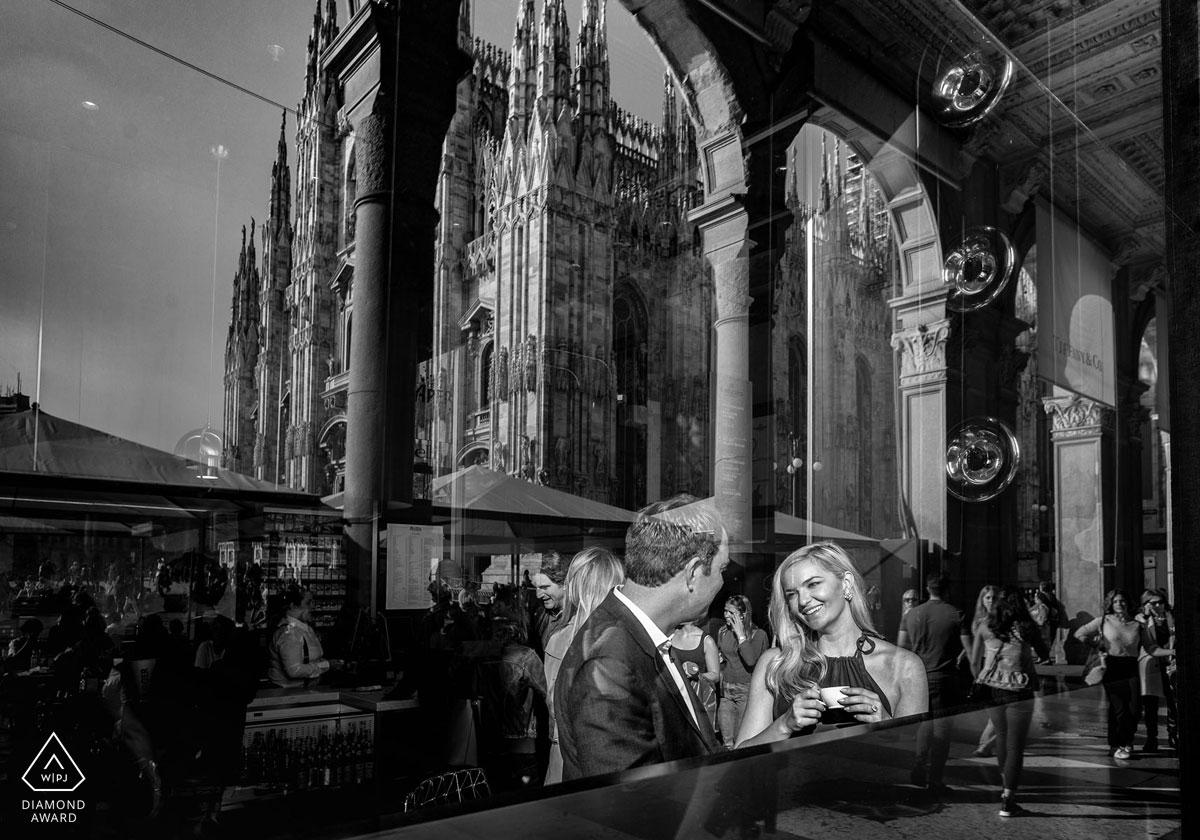 Portrait de fiançailles à Paderno Dugnano, photographie de Stefano Ferrier