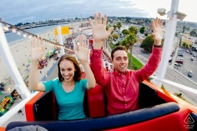 Roller Coaster Love Session for Engagement Portraits in California
