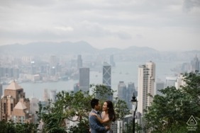 High above Hong Kong for this pre-wedding shoot | Asia engagement photographer