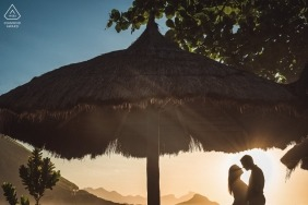 Rio de Janeiro wedding engagement photos for Brazil couples at the beach in the sun