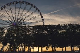 Derbyshire Engagement Photographer | Ferris Wheel sunset portrait session
