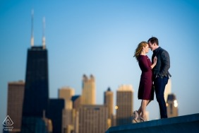 Illinois couple photography | a pre-wedding session in the city of Chicago
