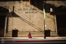 The civic Opera House engagement photos | Chicago pre-wedding portraits