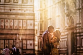 Perugia Pre Wedding Portraits of a Couple in Sunlight