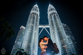 Sesja zdjęciowa Petronas Twin Towers w Malezji