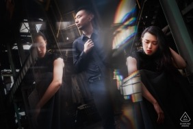 Prism engagement pictures of a couple | Fujian photographer pre-wedding shoot