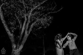Black & White Key West Engagement Portraits in Florida