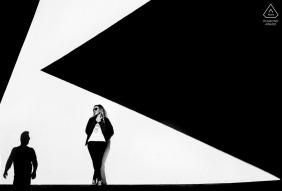 Black & White Engagement Portraits in Murcia, Spain