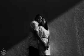 Couple engagement portrait in Goa | Black and White photography
